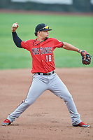 Juan Martinez (18) of the Billings Mustangs during a game against the Ogden Raptors at Lindquist Field on August 17, 2018 in Ogden, Utah. Billings defeated Ogden 6-3. (Stephen Smith/Four Seam Images)