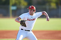 Jesse Lieberman (52), from San Francisco, California, while playing for the Nationals during the Under Armour Baseball Factory Recruiting Classic at Gene Autry Park on December 27, 2017 in Mesa, Arizona. (Zachary Lucy/Four Seam Images)