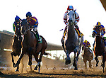Star Billing and Joyful Victory race in the Zenyatta Stakes at Santa Anita Park, Arcadia California on September 29, 2012.