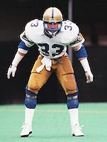 Pat Cantner Winnipeg Blue Bombers 1986. Copyright photograph Scott Grant