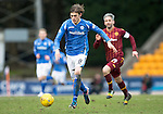 St Johnstone v Motherwell…20.02.16   SPFL   McDiarmid Park, Perth<br />Murray Davidson breaks from midfield<br />Picture by Graeme Hart.<br />Copyright Perthshire Picture Agency<br />Tel: 01738 623350  Mobile: 07990 594431