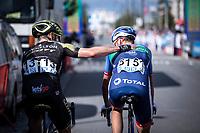 Michael Hepburn (AUS/Mitchelton Scott), Niki Terpstra (NED/Direct Energie), post race <br /> <br /> Antwerp Port Epic 2019 <br /> One Day Race: Antwerp > Antwerp 187km<br /> <br /> ©kramon