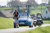 eventual race winner Dylan van Baarle (NED/INEOS Grenadiers) atop the Holstraat<br /> <br /> 76th Dwars door Vlaanderen 2021 (MEN1.UWT)<br /> 1 day race from Roeselare to Waregem (184km)<br /> <br /> ©kramon