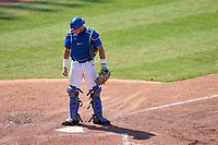 Memphis Tigers catcher Hunter Goodman (35) during an American Athletic Conference Baseball Championship game against the UCF Knights on May 27, 2021 at BayCare Ballpark in Clearwater, Florida.  (Mike Janes/Four Seam Images)