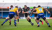 Exeter Chiefs' Jonny Hill in action during todays match<br /> <br /> Photographer Bob Bradford/CameraSport<br /> <br /> Gallagher Premiership Semi-Final - Exeter Chiefs v Bath Rugby - Saturday 10th October 2020 - Sandy Park - Exeter<br /> <br /> World Copyright © 2020 CameraSport. All rights reserved. 43 Linden Ave. Countesthorpe. Leicester. England. LE8 5PG - Tel: +44 (0) 116 277 4147 - admin@camerasport.com - www.camerasport.com