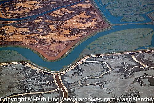 aerial photograph Bair Island, Redwood City, San Mateo county, California
