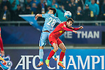 Adelaide United Forward Nikola Mileusnic (R) fights for the ball with Jiangsu FC Midfielder Yang Xiaotian (L) during the AFC Champions League 2017 Group H match between Jiangsu FC (CHN) vs Adelaide United (AUS) at the Nanjing Olympics Sports Center on 01 March 2017 in Nanjing, China. Photo by Marcio Rodrigo Machado / Power Sport Images