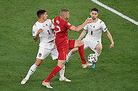 Giovanni Di Lorenzo of Italy, Altay Bayindir of Turkey and Jorge Luiz Frello Filho Jorginho of Italy during the Uefa Euro 2020 Group stage - Group A football match between Turkey and Italy at stadio Olimpico in Rome (Italy), June 11th, 2021. Photo Andrea Staccioli / Insidefoto