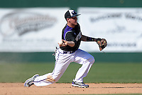 Kentucky Wesleyan Panthers second baseman Josh Vance (2) during a game against Slippery Rock University at Jack Russell Stadium on March 14, 2014 in Clearwater, Florida.  Slippery Rock defeated 18-13.  (Mike Janes/Four Seam Images)