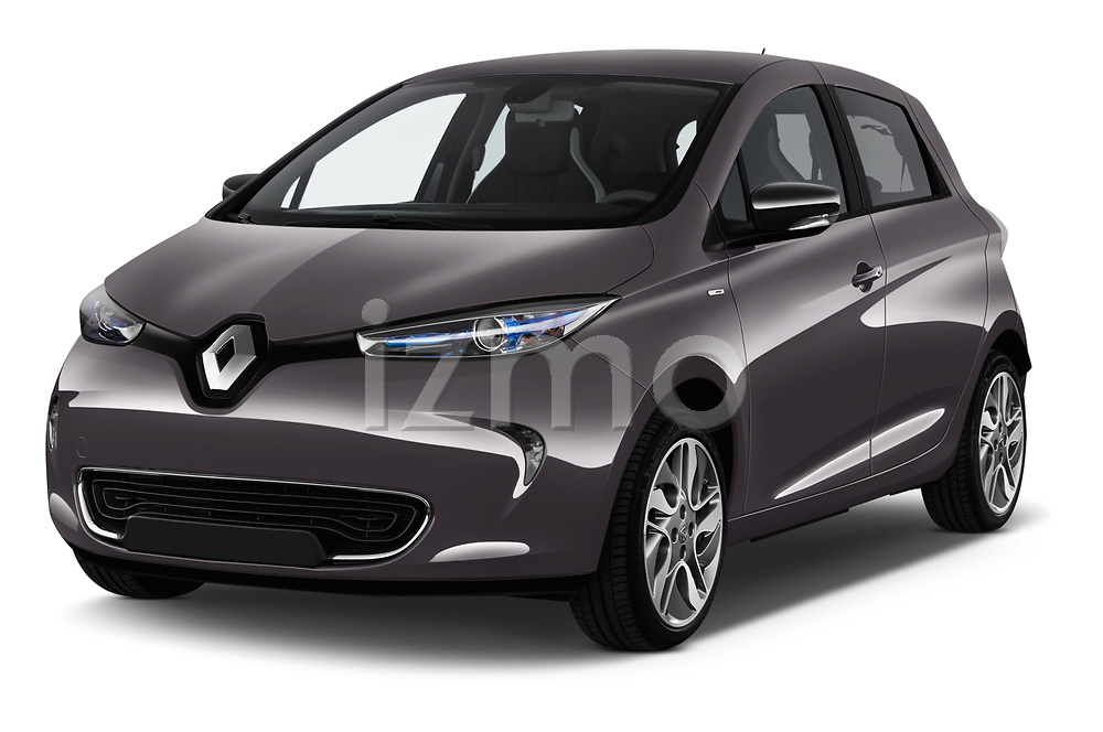 2017 Renault ZOE Bose Edition 5 Door Hatchback angular front stock photos of front three quarter view