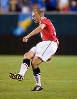 Ritchie De Laet. Manchester United defeated Philadelphia Union, 1-0.