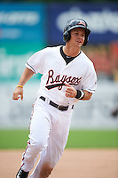 Bowie Baysox shortstop Adrian Marin (1) running the bases on a Glynn Davis (not shown) home run during the second game of a doubleheader against the Akron RubberDucks on June 5, 2016 at Prince George's Stadium in Bowie, Maryland.  Bowie defeated Akron 12-7.  (Mike Janes/Four Seam Images)