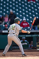 Baylor Bears pinch hitter Cameron Miller (32) at bat during Houston College Classic against the Hawaii Rainbow Warriors on March 6, 2015 at Minute Maid Park in Houston, Texas. Hawaii defeated Baylor 2-1. (Andrew Woolley/Four Seam Images)