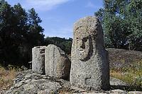 Prähistorische Ausgrabungen von Filitosa, Menhir Filitosa VI, Korsika, Frankreich