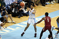 CHAPEL HILL, NC - FEBRUARY 1: Garrison Brooks #15 of the University of North Carolina passes the ball during a game between Boston College and North Carolina at Dean E. Smith Center on February 1, 2020 in Chapel Hill, North Carolina.