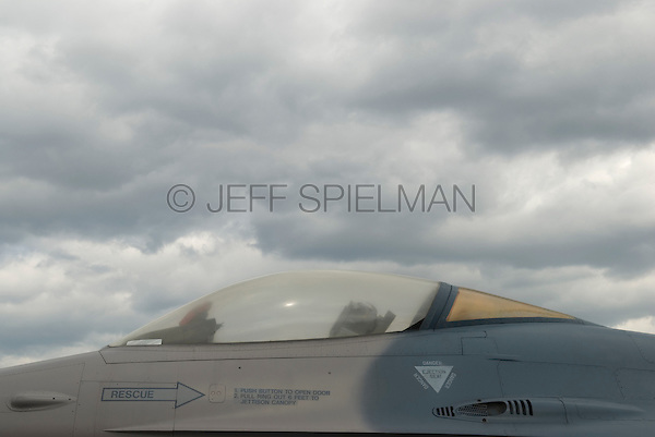 AVAILABLE FROM JEFF AS A FINE ART PRINT.<br /> <br /> AVAILABLE FROM JEFF FOR EDITORIAL LICENSING (inside a magazine or publication).<br /> <br /> Vintage United States Air Force Military Airplane - General Dynamics F-16 Fighting Falcon (Circa 1978) ..Intrepid Sea, Air and Space Museum, New York City, New York State, USA