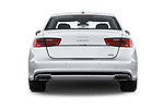 Straight rear view of 2016 Audi A6  TDI quattro tiptronic Prestige  4 Door Sedan stock images