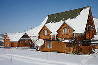 Altai Region, Siberia, Russia, 25/02/2011..Holiday homes at the Kaimskoe leisure resort, part owners of the proposed Siberian Coin casino project in the Altai mountains.