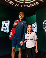 Rotterdam, The Netherlands, 17 Februari, 2018, ABNAMRO World Tennis Tournament, Ahoy, Tennis, David Goffin (BEL), <br /> <br /> Photo: www.tennisimages.com