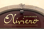 Exterior Sign, Florence, Tuscany, Italy