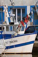 Europe/France/Bretagne/56/Morbihan/Belle-Ile/ Le Palais: le port bateau de pêche et maison de pêcheur