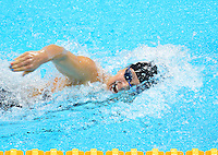 July 28, 2012: ELIZABETH BEISEL of USA competes in women's 400 meter individual medley at the Aquatics Center on day one of 2012 Olympic Games in London, United Kingdom.