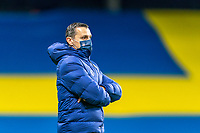SOLNA, SWEDEN - APRIL 10: Vlatko Andonovski of the USWNT watches his team during a game between Sweden and USWNT at Friends Arena on April 10, 2021 in Solna, Sweden.