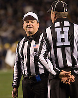 Referee Jerry McGinn. Cincinnati Bearcats defeated the Pitt Panthers 26-23 at Heinz Field in Pittsburgh, Pennsylvania on November 5, 2011.