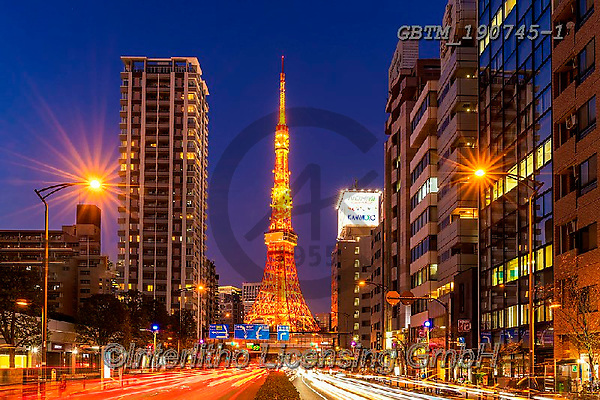 Tom Mackie, LANDSCAPES, LANDSCHAFTEN, PAISAJES, photos,+Asia, Japan, Japanese, Tokyo, Tom Mackie, Urban Environment, Worldwide, blue, building, buildings, capital, cities, city, cit+yscape, horizontal, horizontals, illuminate, illuminated, illumination, landmark, landmarks, light, light trails, night time,+nightscene, orange, red, time of day, tourist attraction, tower, towers, twilight, urban, world wide, world-wide, yellow,Asi+a, Japan, Japanese, Tokyo, Tom Mackie, Urban Environment, Worldwide, blue, building, buildings, capital, cities, city, citysc+,GBTM190745-1,#l#, EVERYDAY