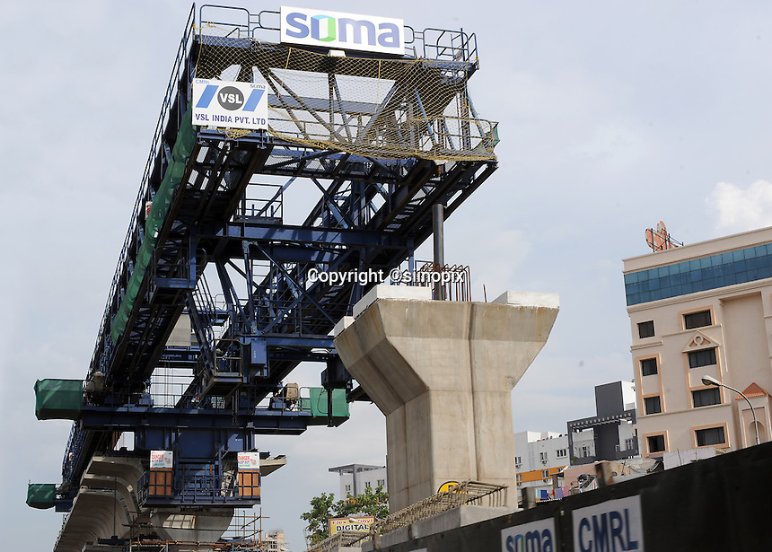 High way Construction site in Madras, India