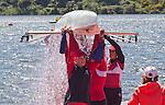 Rowing, Rowing Canada, Canada, Women's Eight, workout, 2010 FISA World Rowing Championships, Lake Karapiro, Hamilton, New Zealand, rough water, Saturday, 30th, October