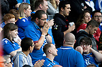 St Johnstone v Galatasaray…12.08.21  McDiarmid Park Europa League Qualifier<br />A saints fans hoping for a miracle<br />Picture by Graeme Hart.<br />Copyright Perthshire Picture Agency<br />Tel: 01738 623350  Mobile: 07990 594431