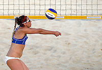 April Ross, of the United States, in action at the Beach Volleyball World Tour Grand Slam, Foro Italico, Rome, 22 June 2013. USA defeated Brazil 2-1.<br /> UPDATE IMAGES PRESS/Isabella Bonotto