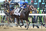 June 6, 2015: Wedding Toast, Jose Lezcano up, wins the 47th running of the Grade I Ogden Phipps Stakes at Belmont Park, Elmont, NY. Kiaran McLaughlin is trainer. This is a 'win and you're in' Breeders' Cup Distaff Division race. Joan Fairman Kanes/ESW/CSM
