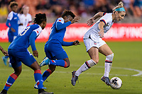 HOUSTON, TX - JANUARY 28: Julie Ertz #8 of the United States controls the ball during a game between Haiti and USWNT at BBVA Stadium on January 28, 2020 in Houston, Texas.