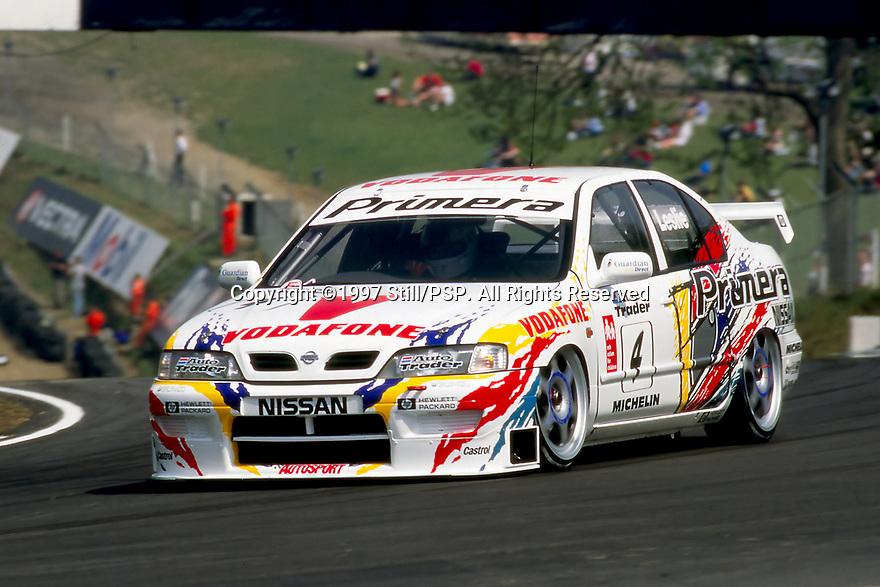 1997 British Touring Car Championship.#4 David Leslie (GBR). Vodafone Nissan Racing. Nissan Primera.