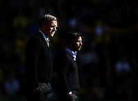 Garry Monk manager of Swansea looks on  during the Barclays Premier League match Watford and Swansea   played at Vicarage Road Stadium , Watford