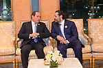 President of Egypt Abdel Fattah el-Sisi meets with Saad Hariri Prime Minister of Lebanon ahead of the 14th Islamic Summit of the Organization of Islamic Cooperation (OIC) in Mecca, Saudi Arabia on June 1, 2019. Photo by Egyptian President Office