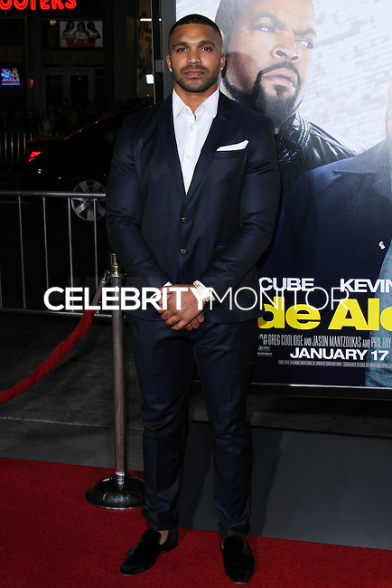 """HOLLYWOOD, CA - JANUARY 13: Tyler Lepley at the Los Angeles Premiere Of Universal Pictures' """"Ride Along"""" held at the TCL Chinese Theatre on January 13, 2014 in Hollywood, California. (Photo by David Acosta/Celebrity Monitor)"""