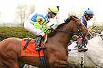 08 April 2010.  Nicanor and Julien Leparoux in the 7th race.