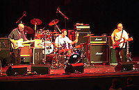 Pictured: Mickey Gee (L) with his support band 20 March 2004<br /> Re: Love with Arthur Lee at the Brycheiniog Theatre in Brecon, Powys, Wales, UK