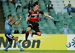 SYDNEY - APRIL 05:  Lee Namgyu of Pohang Steelers is challenged by Ali Abbas of Sydney FC during the AFC Champions League group H match between Sydney FC and Pohang Steelers on 05 April 2016 held at Sydney Football Stadium in Sydney, Australia. Photo by Mark Metcalfe / Power Sport Images  ) *** Local Caption *** Lee Namgyu;Ali Abbas