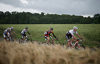 Jasper Stuyven (BEL/Trek-Segafredo) & Ben Hermans (BEL/BMC)<br /> <br /> Belgian National Road Cycling Championships 2016<br /> Les Lacs de l'Eau d'Heure