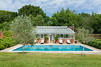 BNPS.co.uk (01202 558833)<br /> Pic: Strutt&Parker/Savills/BNPS<br /> <br /> RESUBMISSION: Please credit Strutt & Parker/Savills/BNPS.<br /> <br /> Pictured: The swimming pool in the gardens.<br /> <br /> An impressive country estate that has hosted royalty and wartime evacuees has gone on the market for £8.65m.<br /> <br /> The Wilverley Estate was once home to the Honourable George Rose, who was paymaster general and known to have entertained King George III there.<br /> <br /> The 234-acre estate is on the edge of the New Forest, near Lyndhurst, Hants, and is up for sale for the first time in 74 years.