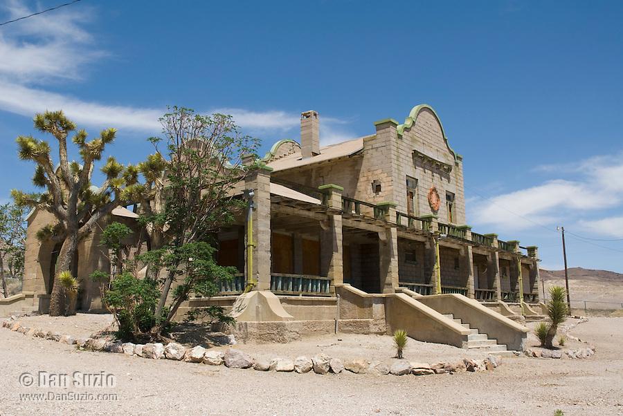 Las Vegas & Tonopah Railroad depot, built 1909. Rhyolite ghost town, Nevada