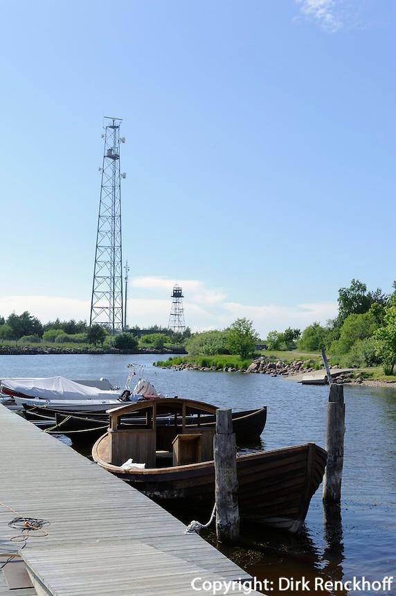 Fischerboote im Hafen von Pavilosta, Lettland, Europa