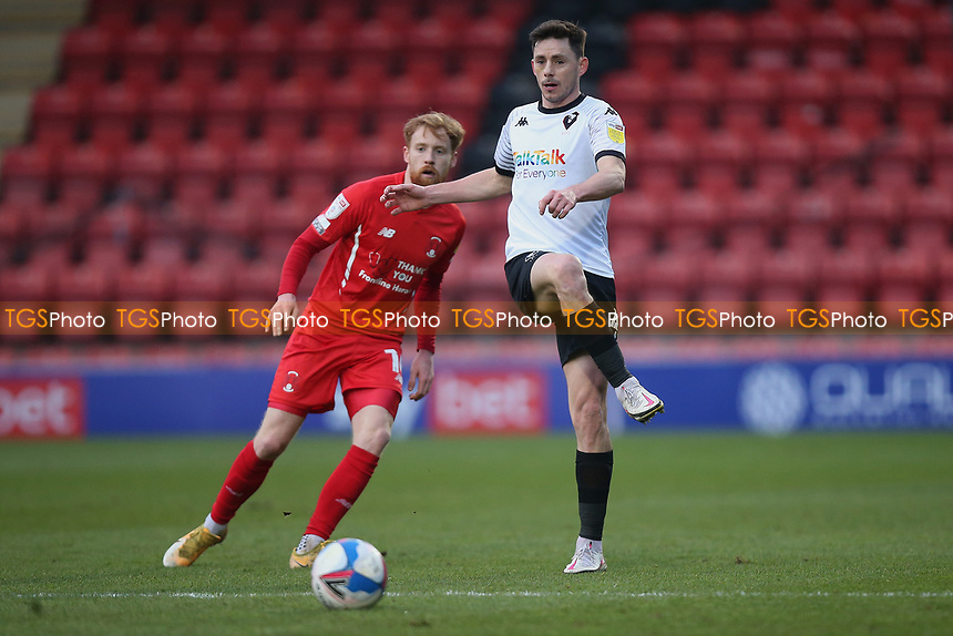 Ian Henderson of Salford City and James Brophy of Leyton Orient during Leyton Orient vs Salford City, Sky Bet EFL League 2 Football at The Breyer Group Stadium on 2nd January 2021