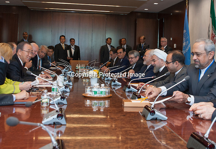 Photo opportunity: The Secretary-General with H.E. Mr. Hassan Rouhani, President, Iran