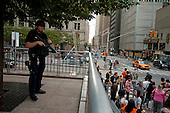 New  York, New York.September 10, 2011..Armed police near Ground Zero on the eve of the 10th anniversary of 9-11-2001.