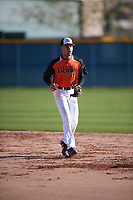 Tyler Bailey (13) of Southeast Bulloch High School in Brooklet, Georgia during the Baseball Factory All-America Pre-Season Tournament, powered by Under Armour, on January 13, 2018 at Sloan Park Complex in Mesa, Arizona.  (Mike Janes/Four Seam Images)
